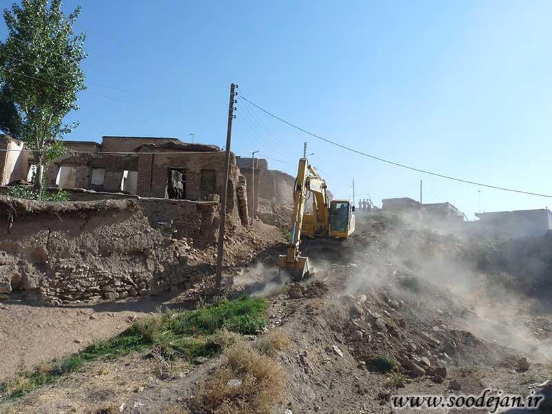 احیای معابر موجود در بافت فرسوده -شهرداری سودجان